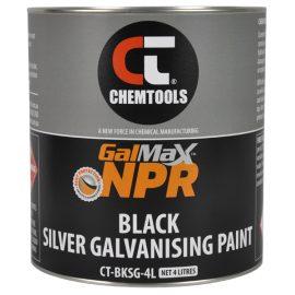 GalMax™ NPR Gloss Black Galvanising Paint, 4L