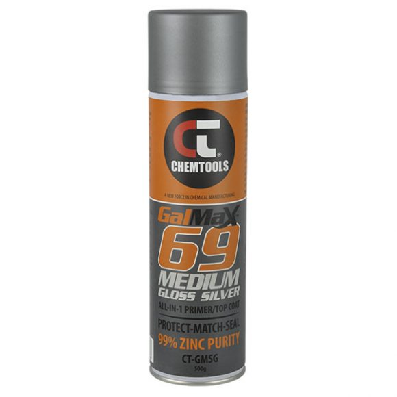 GalMax 69 Medium Gloss Silver All-in-1 Primer/Top Coat, 500g