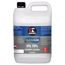 Kleanium™ 70% IPA Isopropyl Alcohol, 5L Bottle