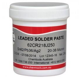 62CR218J250Solder Paste Sn62/Pb36/Ag2 No Clean 250g Jar