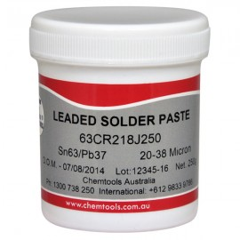 63CR218J250Solder Paste Sn63/Pb37 No Clean 250g Jar