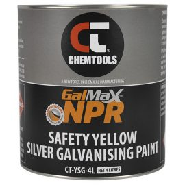 GalMax™ NPR Safety Yellow Silver Galvanising Paint, 4L