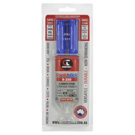 Rapidstick 8-250 15 Minute Epoxy, 25g Dual Syringe in Blister Pack