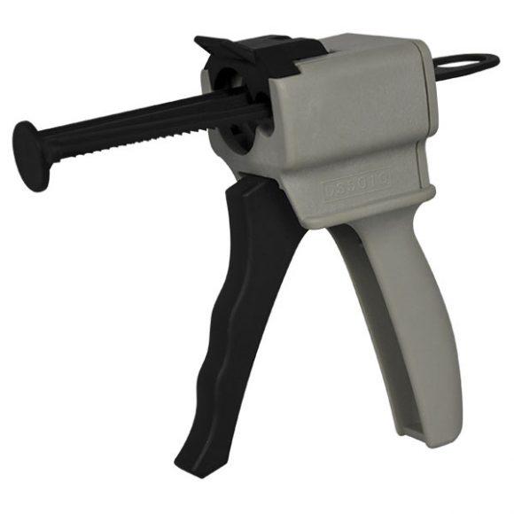 Ratchet Propelled Twin Piston Cartridge Mixing Gun (10:1 Ratio)