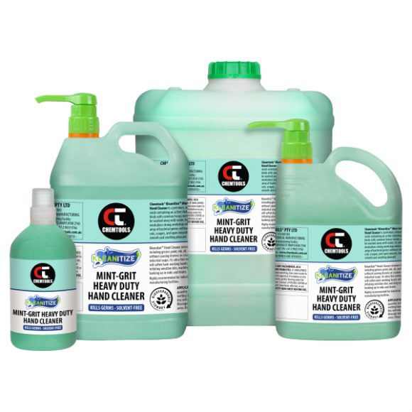 Kleanitize Mint-Grit Heavy Duty Hand Cleaner Product Range