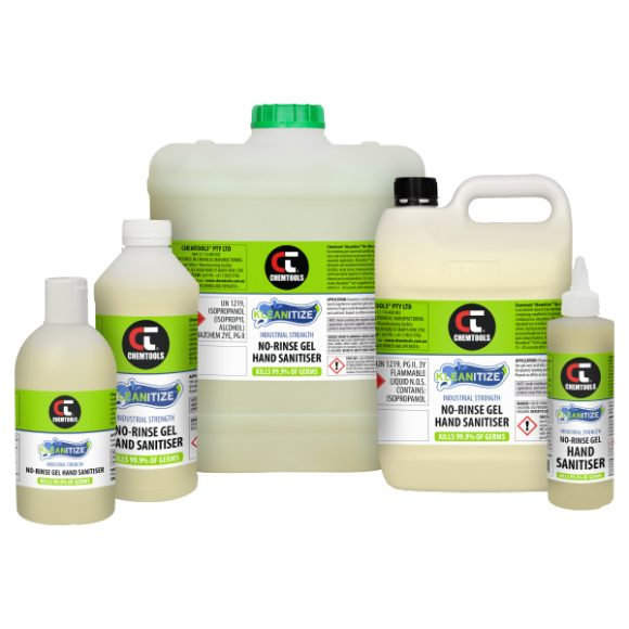 Kleanitize™ No-Rinse Gel Hand Sanitiser (IPA-Based), Product Range