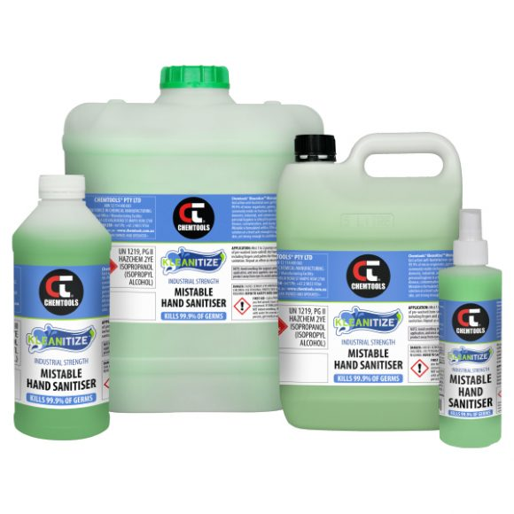 Kleanitize™ Mistable Hand Sanitiser, Product Range