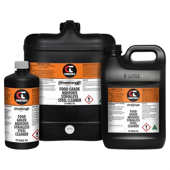 Corrofix™ Food Grade Aqueous Stainless Steel Cleaner Product Range