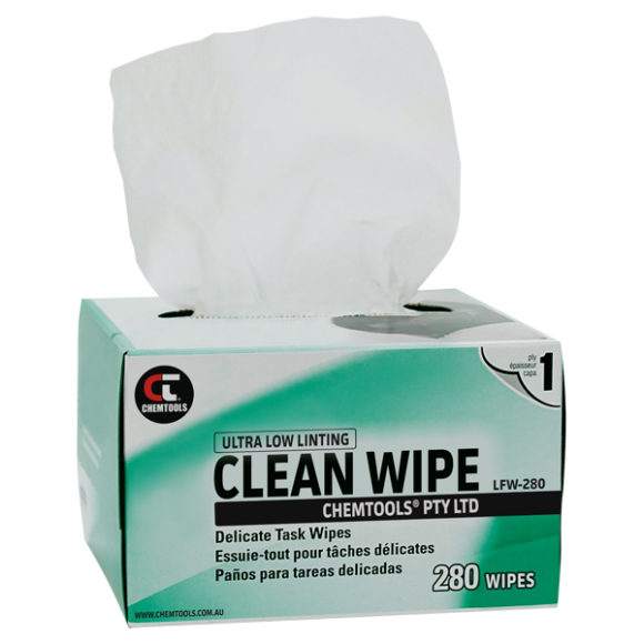 CLEAN WIPE Delicate Task Wipes, Box of 280
